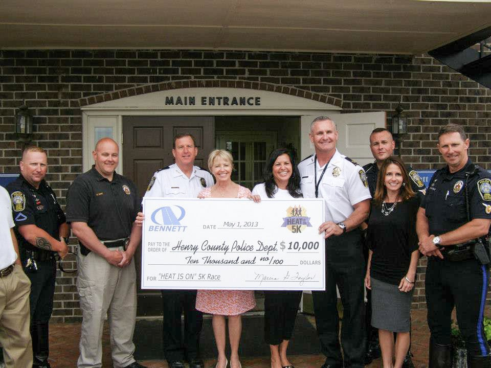 """Bennett Sponsored, """"Heat Is On"""" 5K Race Benefits the Henry County Police Department"""