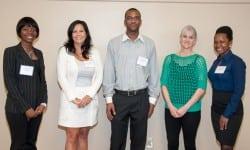 Kimone Mcleod, Lynette Alt, vice president of Bennett International Group, Justin Agonafir, Regina Auletta, vice president of Bennett International Group, Irvine Georges