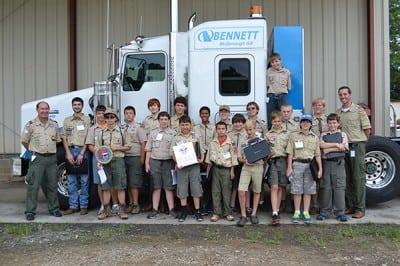 Boy Scouts at Bennett International Group