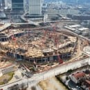 Bennett Transports Structural Steel for Atlanta Falcons Stadium Project