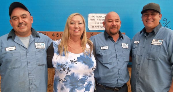 Joan Birdsong is firm with her drivers about violations. She has trained her forklift drivers and employees to conduct pre-trip inspections as they are loading.
