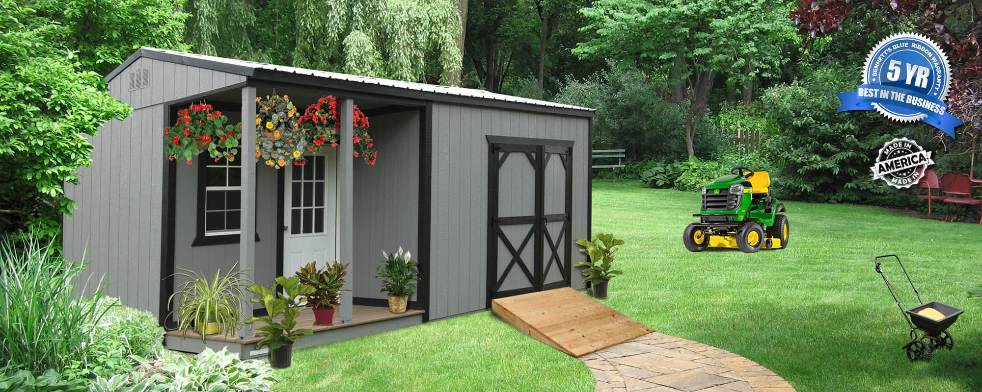 Merveilleux Wood Or Steel Buildings With A Porch Give You Instant Storage With A  Relaxing Space To Create A Hunting Cabin, She Shed, Pool House Or Workshop.