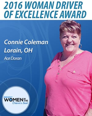 Ace Doran woman driver of excellence