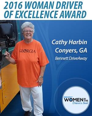 Ace Doran woman driver wins award