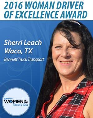 Bennett Truck Transport woman driver award
