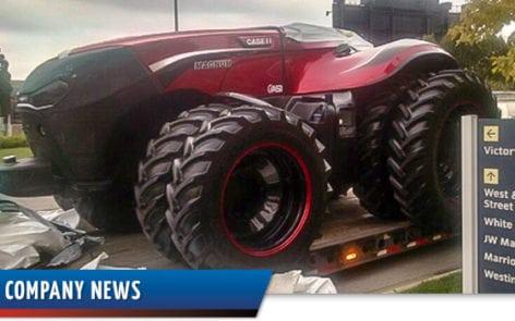 Bennett unloads self-driving tractor