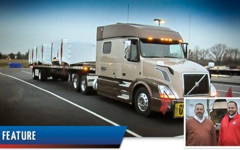 Ace Doran hauls Pioneer glass panels