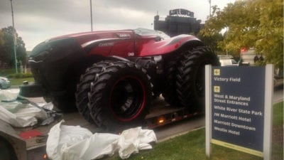 Self-driving tractor at FFA Convention