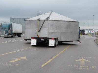 Ace Doran hauls super-sized storage tank