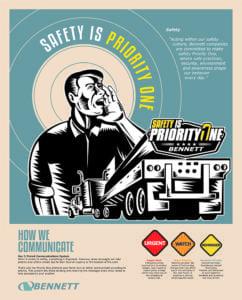Bennett safety brand poster