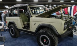Remodeled Bronco in Bennett MATS booth