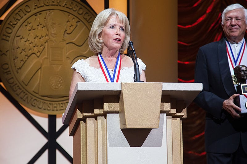 Marcia Taylor inducted Horatio Alger Association