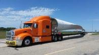 Ace Doran hauls wind blade