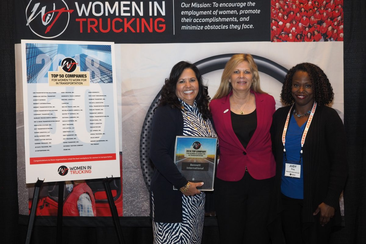 Bennett is a Top 50 Company for Women to Work for in Transportation