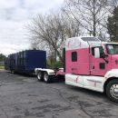 Bennett Owner Operator Delivers Kohler Relief Showering Trailer for Covid-19 Pandemic